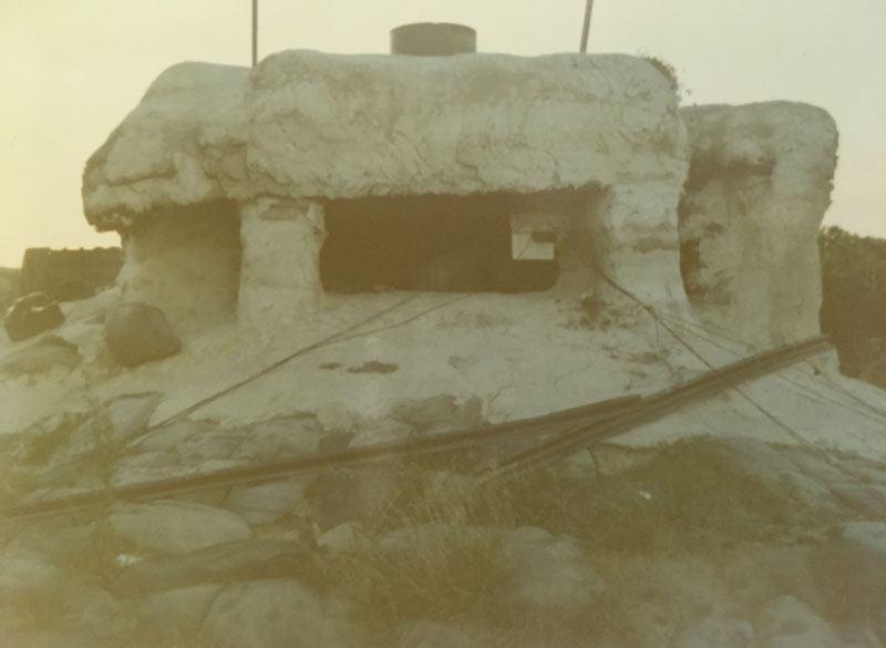 Concrete bunker on base perimeter